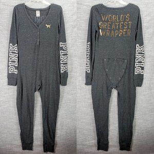 VS PINK Thermal Onesie World's Greatest Wrapper L